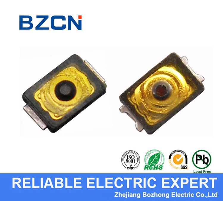Ultra Micro Yellow Thin Momentary Tactile Switch For PCB 12v Tact Switch