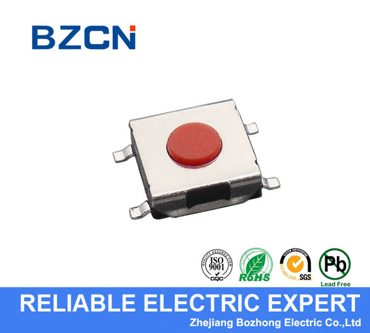 SPST Silent Tactile Switch / Surface Mount Push Switch SMD Terminal Type