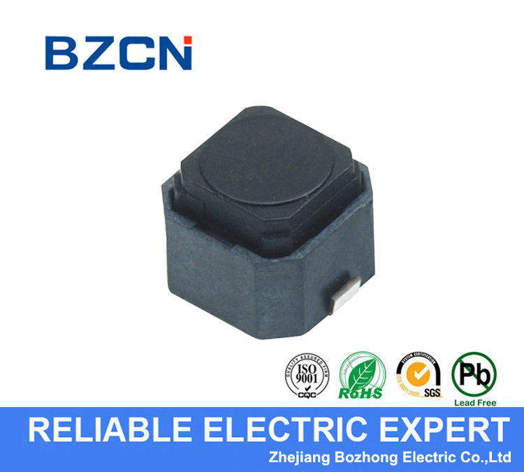 Black House Momentary Tactile Switch 2 Pin 12V Voltage With Long Travel