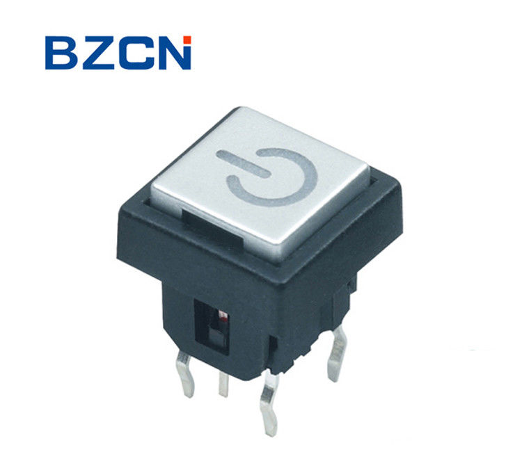 Through Hole Terminal Illuminated Tactile Switch Momentary With Cap Push Button