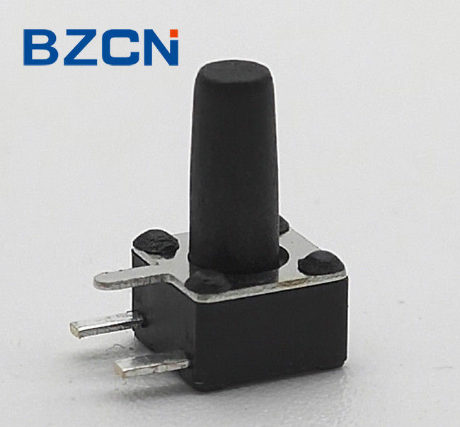 3 Side Pin Momentary PCB Push Switch Sharp Feeling Switch With Plastic Cover