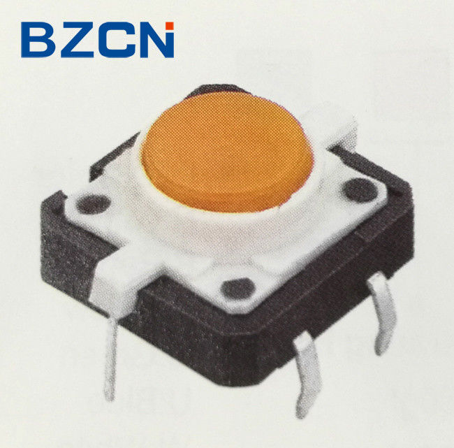 Yellow LED Light Illuminated Tactile Switch Tactile Push Button Switch With Cap Button